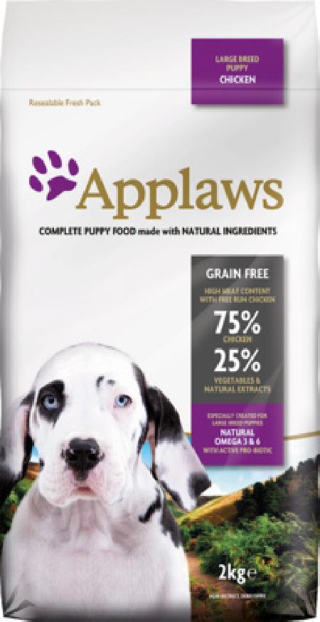Applaws корм для щенков крупных пород, беззерновой, курица и овощи 2 кг