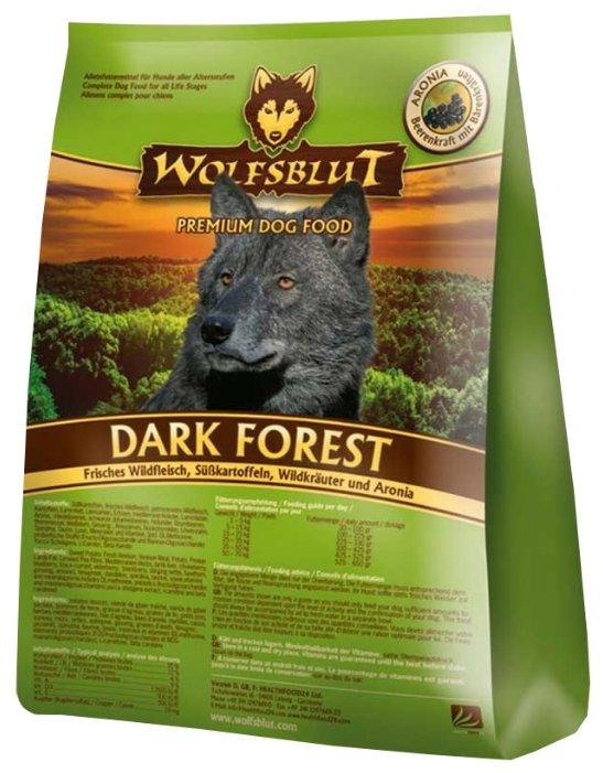 Wolfsblut Корм Dark Forest (Тёмный лес для взрослых собак) 7,5 кг, WBDF7.5