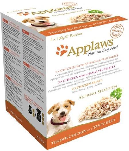 Applaws влажный корм для взрослых собак всех пород, индейка, говядина, океаническая рыба 500 гр