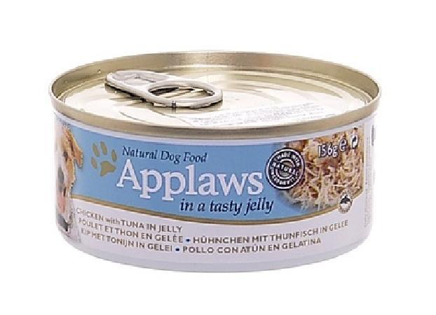 Applaws влажный корм для взрослых собак всех пород, курица с тунцом в желе 156 гр