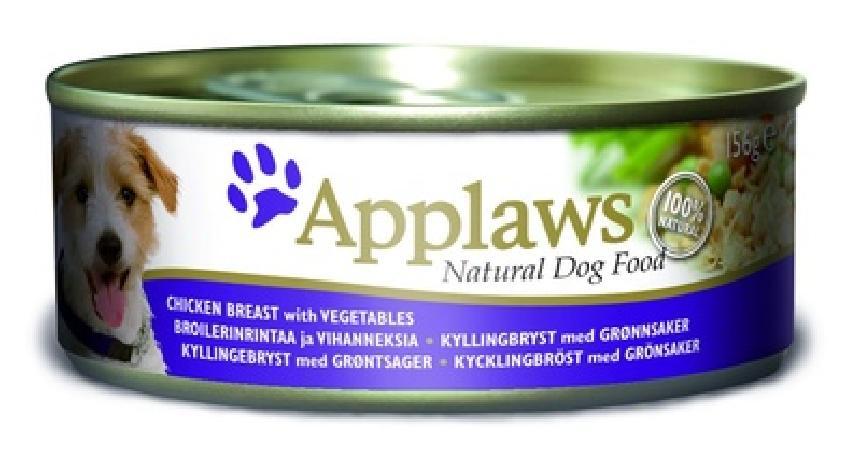 Applaws влажный корм для взрослых собак всех пород, курица, овощи и рис 156 гр