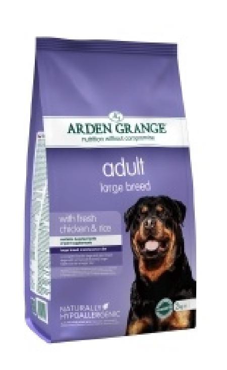 Arden Grange корм для взрослых собак крупных пород, курица 12 кг
