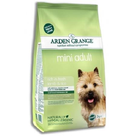 Arden Grange корм для взрослых собак малых пород, ягненок и рис 2 кг
