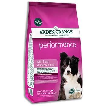 Arden Grange корм для взрослых активных собак всех пород, курица 12 кг