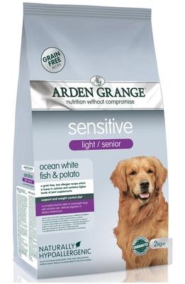 Arden Grange корм для пожилых собак всех пород, чувствительное пищеварение, рыба 2 кг