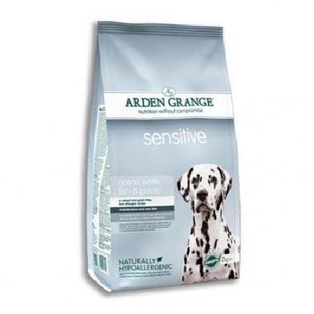 Arden Grange корм для взрослых собак всех пород, чувствительная кожа, рыба 12 кг