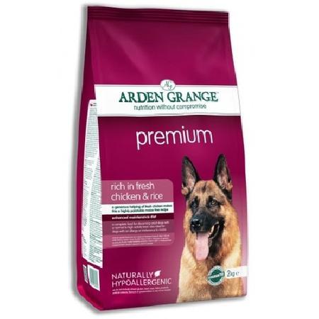 Arden Grange Premium корм для взрослых собак всех пород, курица 12 кг