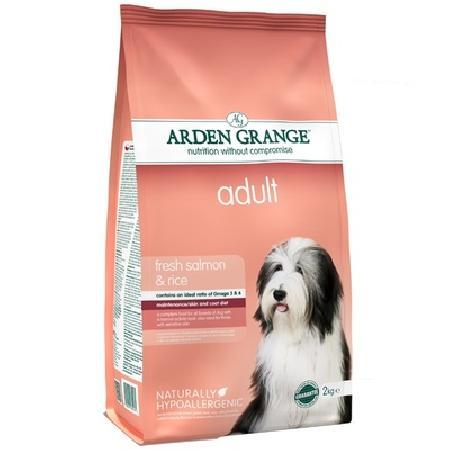 Arden Grange корм для взрослых собак всех пород, лосось и рис 12 кг