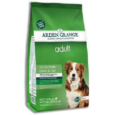 Arden Grange корм для взрослых собак всех пород, ягненок и рис 2 кг