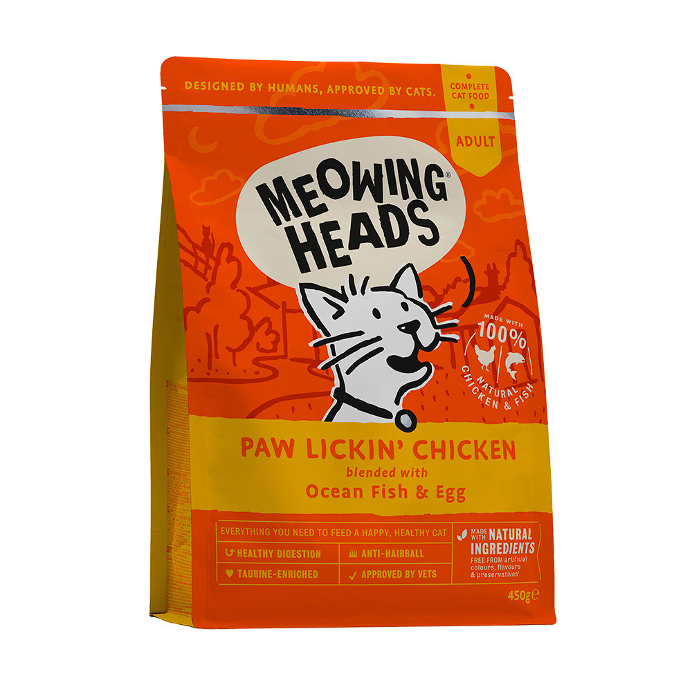Barking Heads Для Взрослых кошек с Курицей и рисом Куриное наслаждение (Paw Lickin' Chicken 450g) MCK450, 0,450 кг