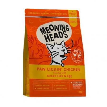 Barking Heads корм для взрослых кошек всех пород, курица и рис Куриное наслаждение 450 гр