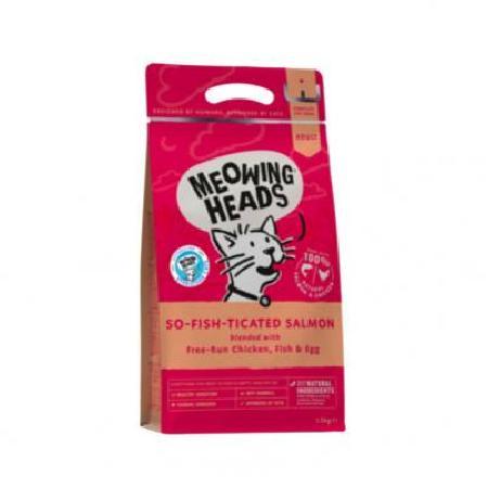 Barking Heads корм для взрослых кошек всех пород, лосось, курица и рис Фиш-гурман 1,5 кг