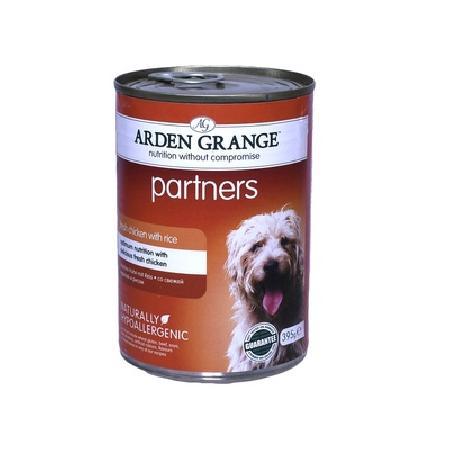 Arden Grange влажный корм для взрослых собак всех пород, курица и рис 395 гр