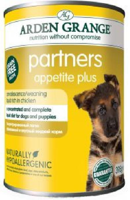 AG827010 Ардэн Грэньдж Консервированный корм для собак и щенков, Суп с курицей (улучшает аппетит), 0,395кг.  AG Partners, Appetite Plus benefit, AG827010