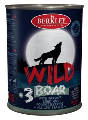 Беркли 75082 Wild кон.длЯ собак обак №3 Кабан с пастернаком, сладким луком и лесными ягодами 400г