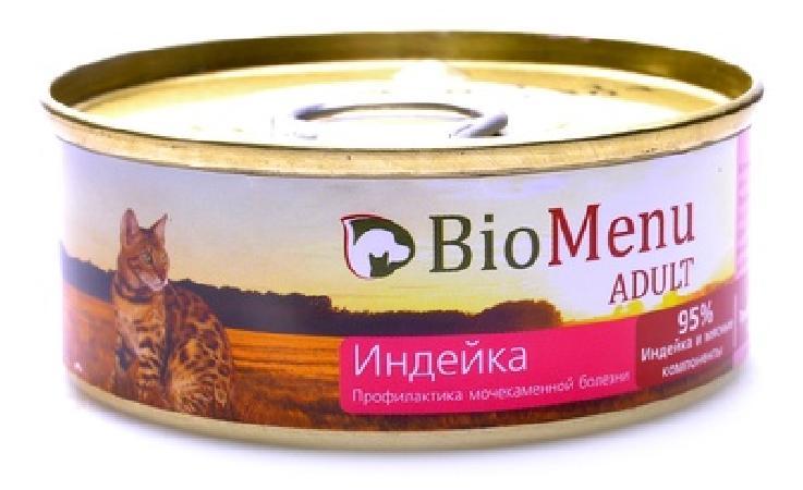 BioMenu  Паштет для кошек с Индейкой (74060/29823), 0,100 кг