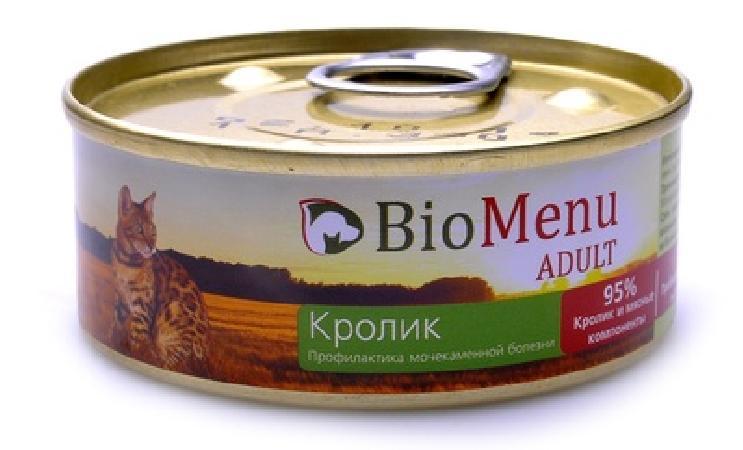 BioMenu  Паштет для кошек с Кроликом (74077/29824), 0,100 кг