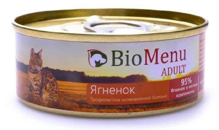 BioMenu  Паштет для кошек с Ягненком (74091/29826), 0,100 кг