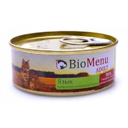 BioMenu Паштет для кошекс Языком (74107/29827), 0,100 кг