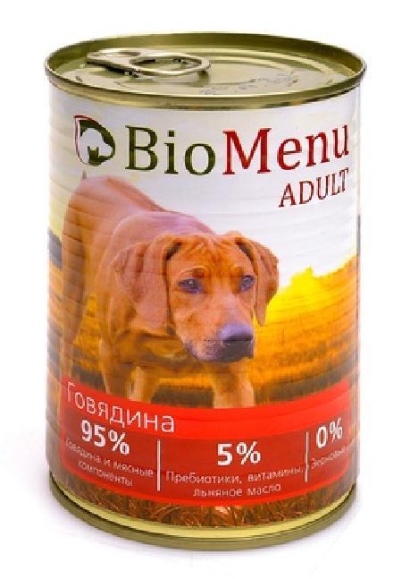 BioMenu влажный корм для собак всех пород и возрастов, говядина 410 гр