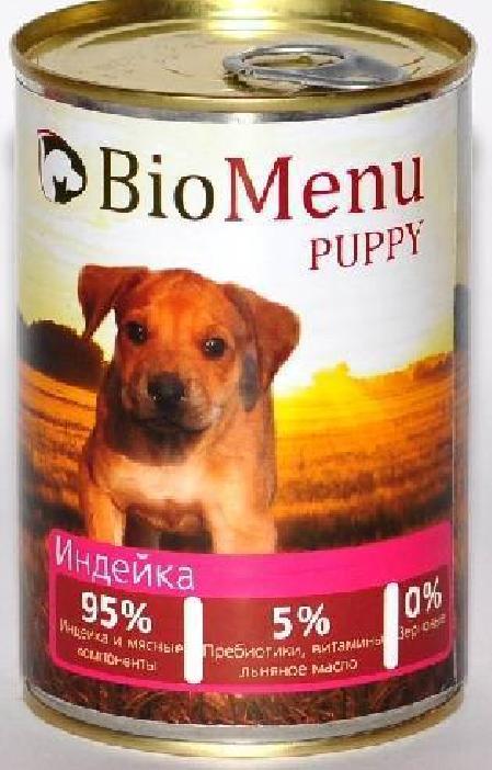 BioMenu Puppy влажный корм для щенков, говядина,95%-мясо 410 гр