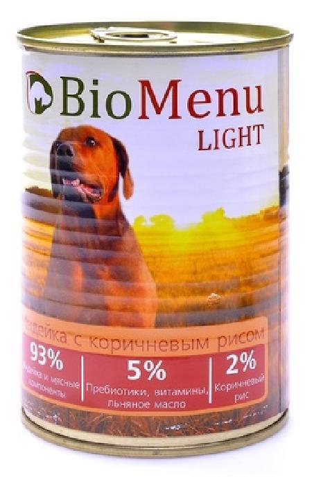 BioMenu влажный корм для собак, облегченный, индейка с коричневым рисом 100 гр