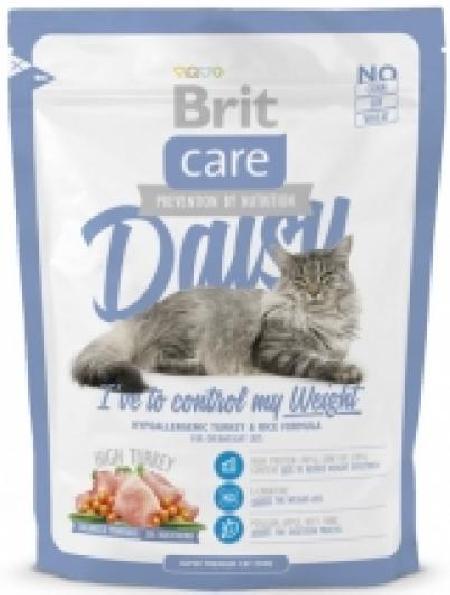 Brit Care корм для взрослых кошек всех пород, склонных к полноте, индейка с рисом 400 гр