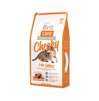 Brit Care корм для взрослых активных кошек всех пород, оленина и рис 2 кг