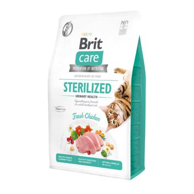 Brit Care корм для взрослых стерилизованных кошек всех пород, цыпленок 2 кг