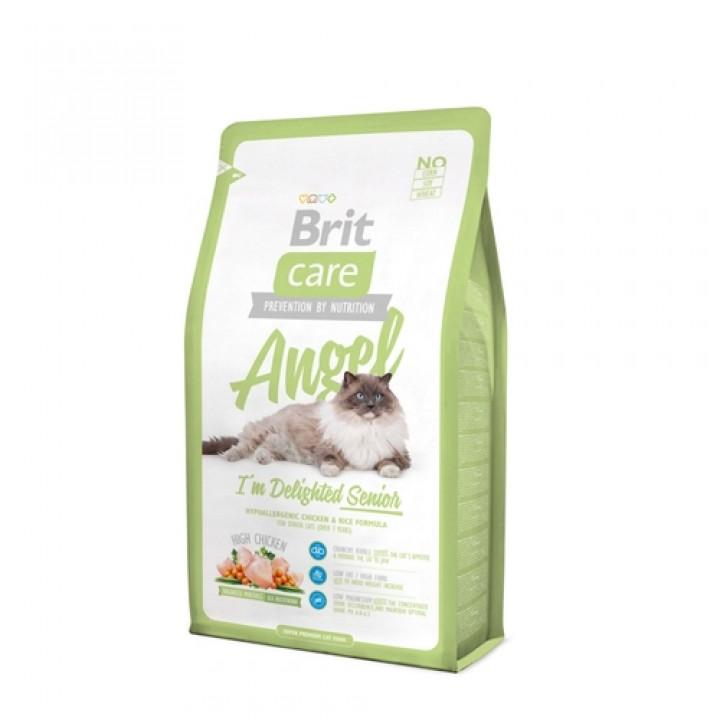 Brit Care корм для пожилых кошек всех пород, курица 7 кг