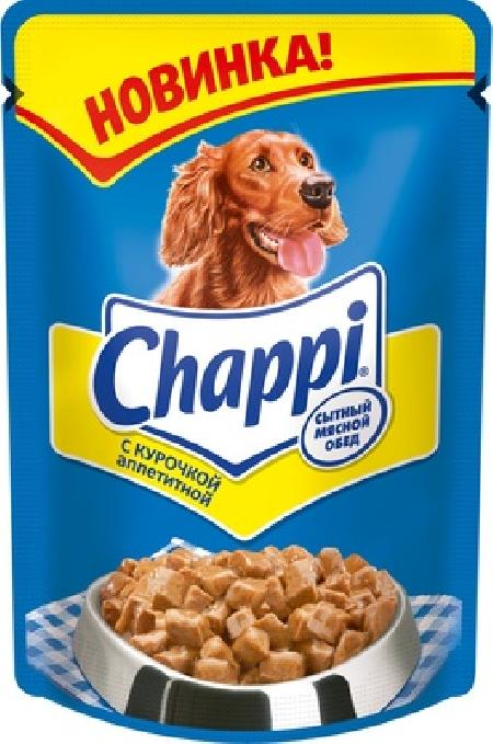 Chappi ВИА Паучи для собак - курочка аппетитная, 10114972, 0,1 кг, 40857