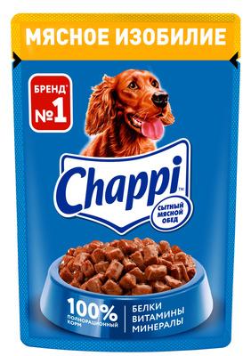 Chappi ВИА Паучи для собак - мясное изобилие, 10114996, 0,100 кг