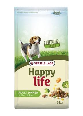 Happy Life Dinner корм для собак, курица 15 кг