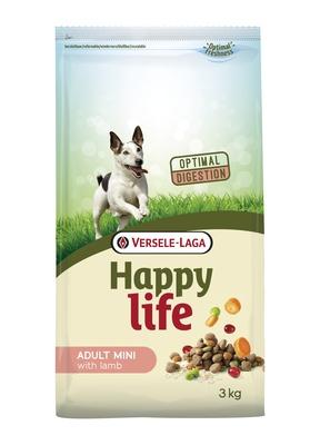 Happy Life корм для собак малых пород, курица 3 кг