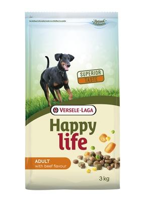 Happy Life корм для собак, говядина 15 кг