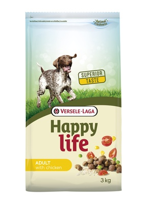 Happy Life корм для собак, курица 15 кг