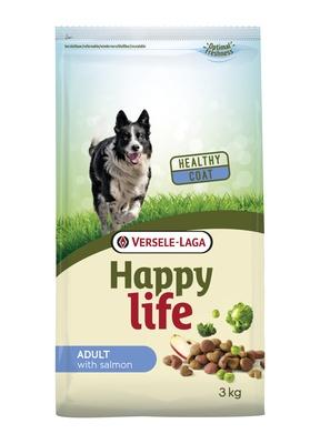 Happy Life корм для собак, лосось 3 кг