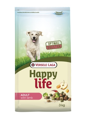 Happy Life корм для собак, ягненок 3 кг