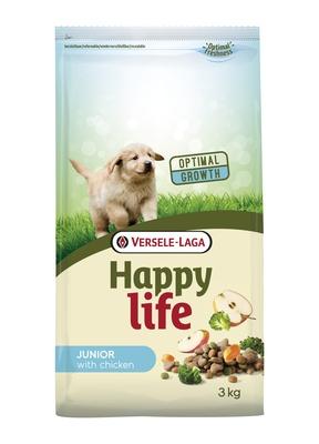 Happy Life корм для щенков, курица 3 кг