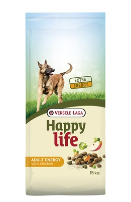 Happy Life (Versele-Laga) Для активных собак с курицей (Happy life Adult Chicken Energy) 431102, 15,000 кг, 46880