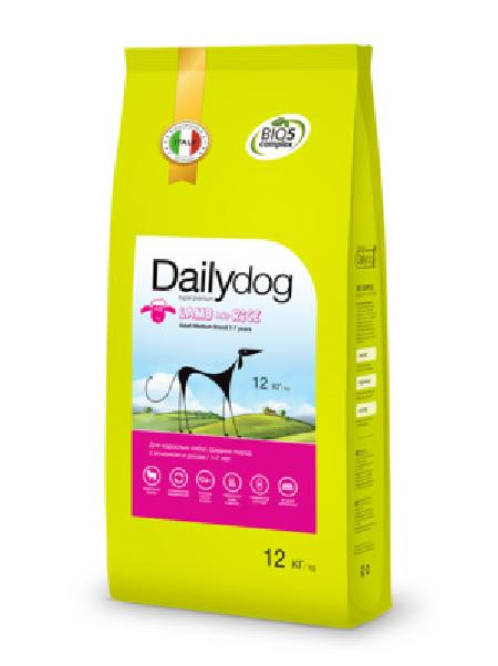 DailyDog Для взрослых собак  средних пород с ягненком и рисом (ADULT MEDIUM BREED Lamb and Rice) 240ДД, 12,000 кг