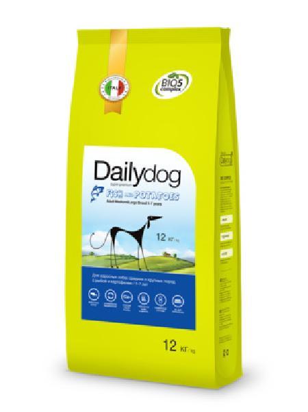 DailyDog ВИА Для взрослых собак средних и крупных пород с рыбой и картофелем (ADULT MEDIUM&LARGE BREED Fish and Potatoes) 241ДД, 12,000 кг