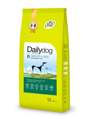 DailyDog ВИА Для взрослых собак  крупных пород с курицей и рисом (ADULT LARGE BREED Chicken and Rice) 244ДД, 12,000 кг
