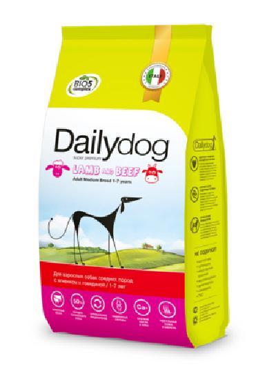 DailyDog Для взрослых собак средних пород с ягненком и говядиной 204VLP12, 12,000 кг