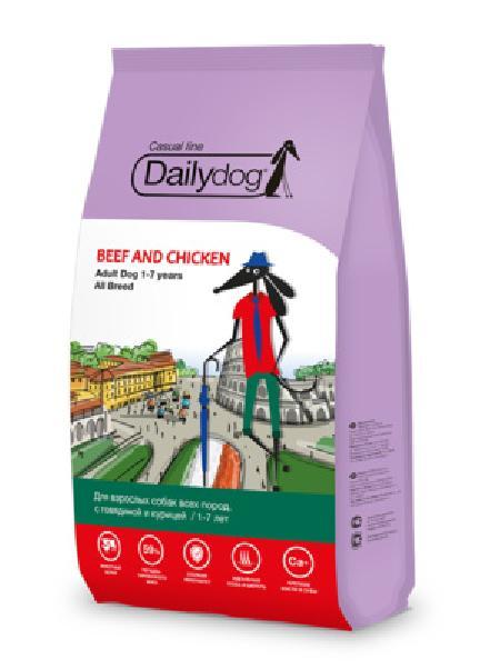 DailyDog Для взрослых собак всех пород с говядиной и курицей 150MPS12, 12,000 кг