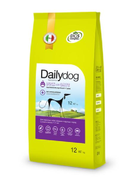 DailyDog ВИА Для взрослых собак средних и крупных пород с уткой и овсом (Adult Medium&Large Breed Duck and Oats) 251ДД, 12,000 кг