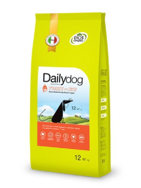 DailyDog Для пожилых собак средних и крупных пород с индейкой и рисом 245ДД, 12,000 кг