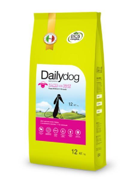 DailyDog Для щенков всех пород с ягненком и рисом 472ДД, 12,000 кг