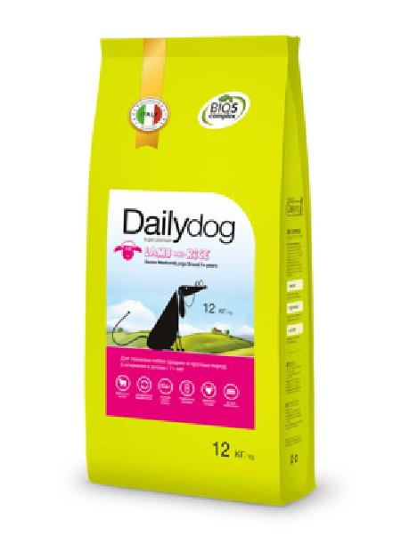 DailyDog Для пожилых собак средних и крупных пород с ягненком и рисом 257ДД, 12 кг, 42392