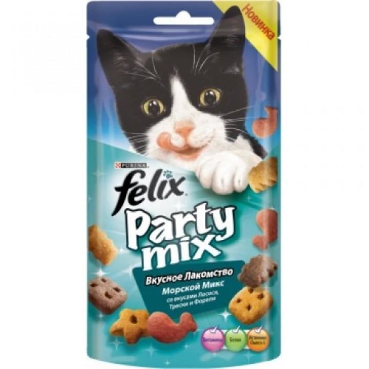 Felix лакомство для кошек всех пород и возрастов, морской микс (лосось, треска, форель) 60 гр